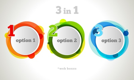 Graphic Design Button and Labels Template.