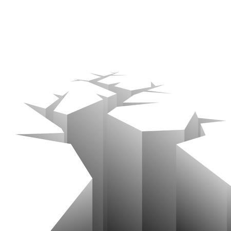 crevice:  Rift. Illustration