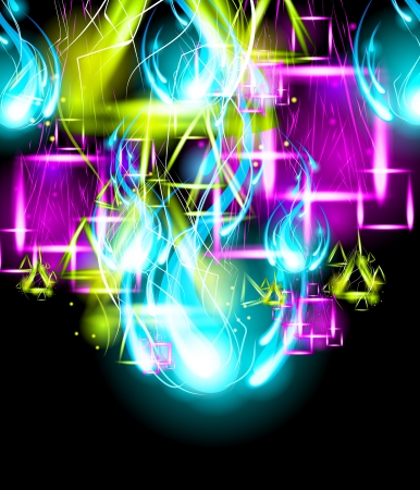 disco symbol: Graffiti Paint Art Background. Light Effect Background.