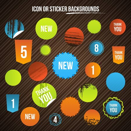 Design Elements. Set of Sticker. Vector