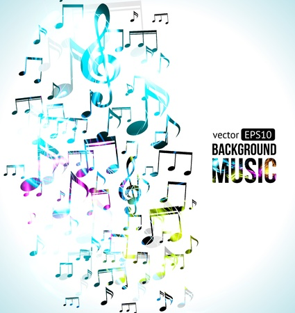 abstract melody: Vector Music Background Note Design