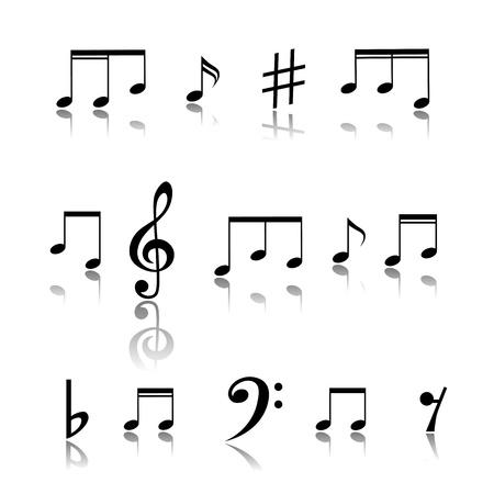 musical notes: Notas Musicales Vectores