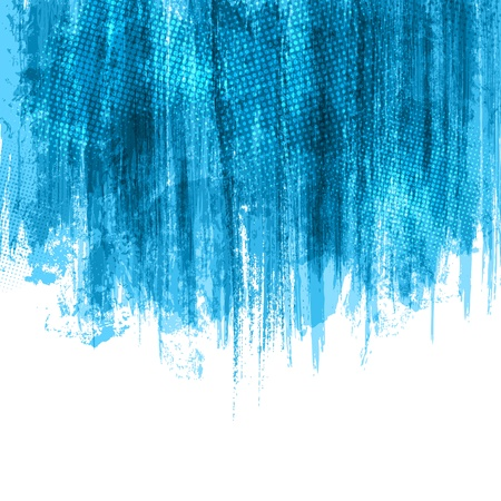 Blue Paint Splashes Background. Vector
