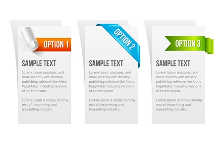 Set of Colorful Sample Option Stickers.