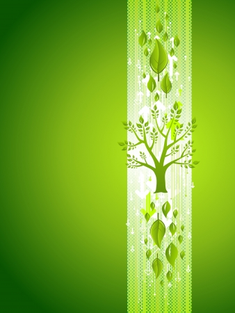 Green Tree Eco Background with Leafs. With space for your text. Stock Vector - 16490322