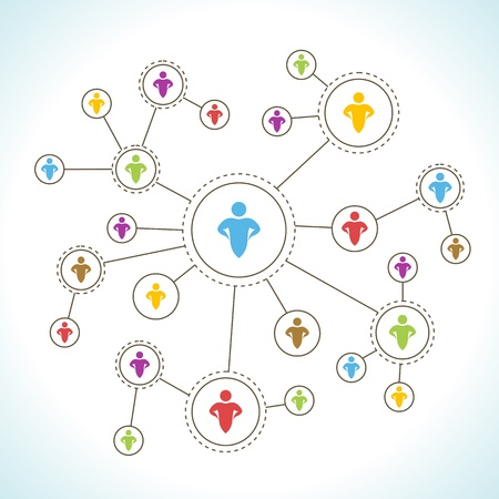 Social Network. Stock Vector - 17344572