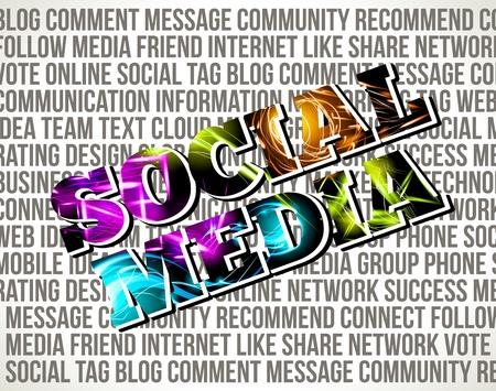 Social Media. Decorative background. Stock Vector - 17344577