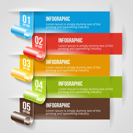 Modern Infographic and Options Banner Template. Vector Web Design Layout.