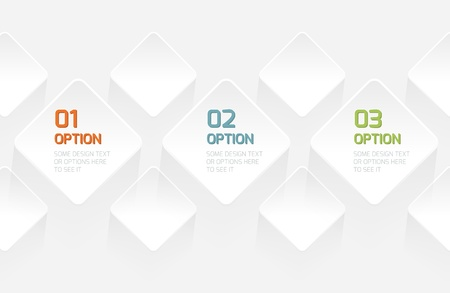 Modern Origami style options banner. Vector illustration for Infographics. Stock Vector - 19881895