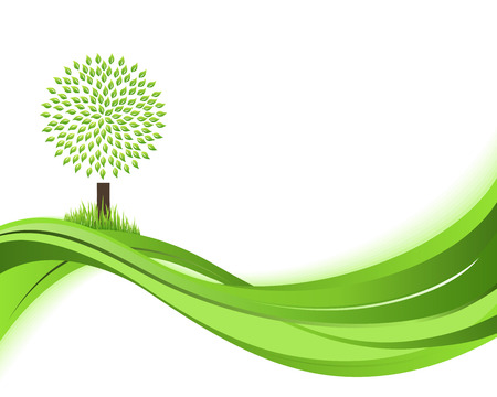 greenhouse effect: Green nature background. Eco concept illustration. Abstract green vector illustration with copyspace.