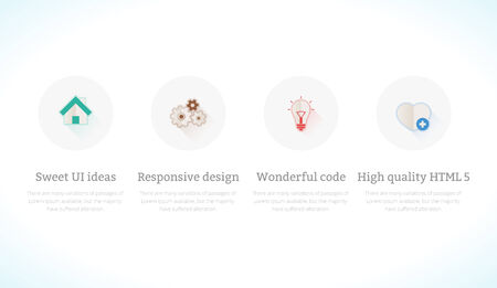 web services: Set of flat design concept icons for web and mobile sites, services and apps. Icons for themes and site templates or unic designs. Illustration