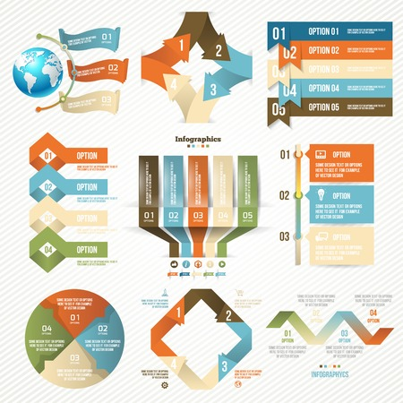 Infographics set with options. Vector Design Elements. Vector