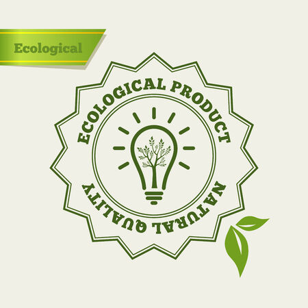 eco icons: Eco Green icon. Natural quality stamp. Fresh product. Ecology vector illustration.