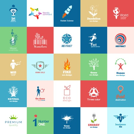 Big set of Design color icons Vector