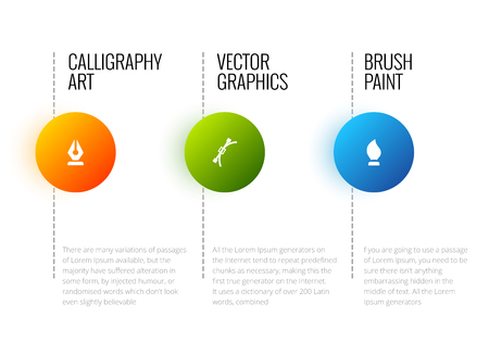 research paper: Vector abstract infographic template with place for your content and text