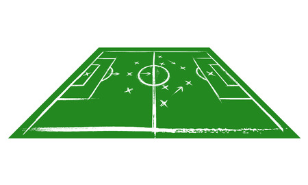 Football field in perspective. Training Vector