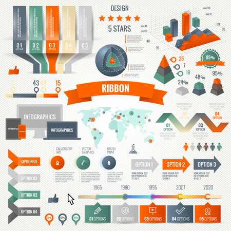Infographics set with options. Vector