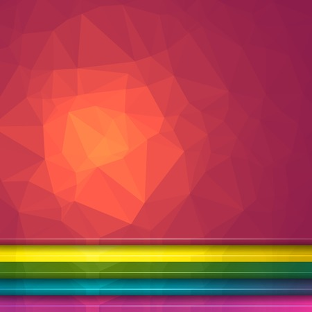Poligon Light Effect Background. Set of Five Geometric Triangular Illustrations. Web Site Headers
