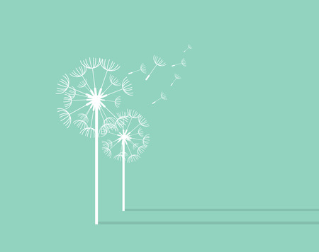 dandelion wind: Dandelion Background. Retro Concept Vector Illustration