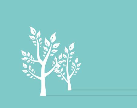 Ttree growth eco concept Background. Retro Concept Vector Illustration Vector
