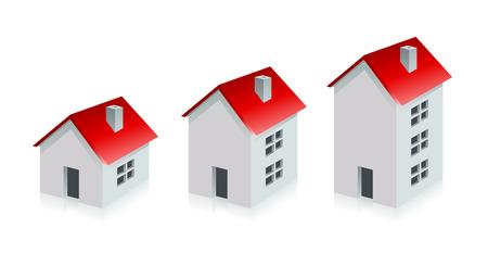 家。不動産。成長ビジネス コンセプト