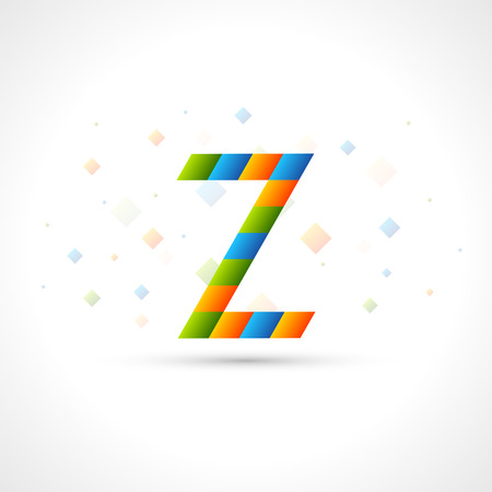 colorize: Abstract Logo template like letter Z. Easy to colorize to your logotype Design. Color Corporate icon. Creative Rhomb Vector Ribbon. Illustration