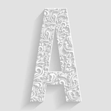 A. ベクトル花招待状装飾的なフォントを文字します。
