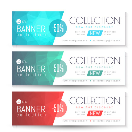 Vector Banner, Gift, Voucher Template. Clean Triangular Pattern Illustration