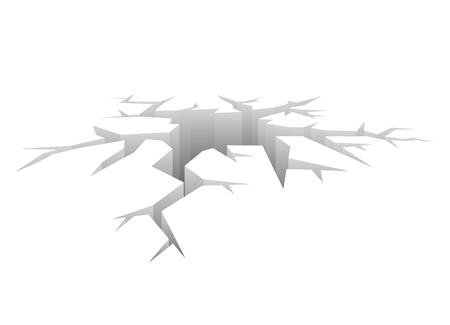 Vecteur Crack. Trous conçu. Accident Concept Fond blanc
