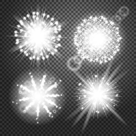 glowing lights: Vector Glowing lights Effects isolated on transparent background. Flash Effects with Transparency. Firework Isolated Pictograms, Lens Effects, Glowing lights, flares, rays, Stars, sparkles, Bokeh