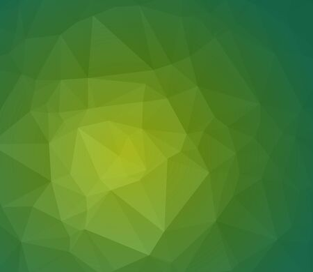 Green abstract polygonal background with geometric texture. wallpaper. Eco background Illustration