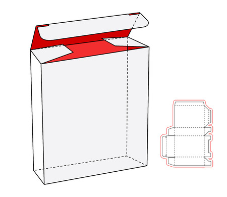 boite carton: Cool Realistic White Package Cardboard Box Opened. For electronic device and other products. Vector Cardboard cut-out
