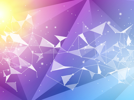 Abstract polygon geometric background. Vector and illustration. Color polygon background