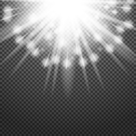 lucidity: Shiny sunburst of sunbeams on the abstract sunshine background and transparency background. Vector illustration. Illustration