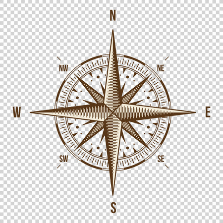 compass rose: Compass. High Quality Illustration. Old Style. Wind Rose Simple Style Isolated Illustration