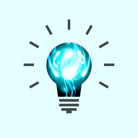 idea lamp: Light Bulb Vector Pictogram. Lamp Icon. Idea concept Illustration