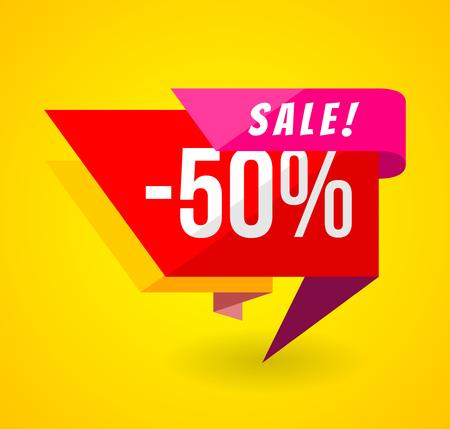 Beperkte aanbieding Mega Sale-banner. Verkoop poster. Grote verkoop, speciale aanbieding, kortingen, 50 korting. Vector illustratie