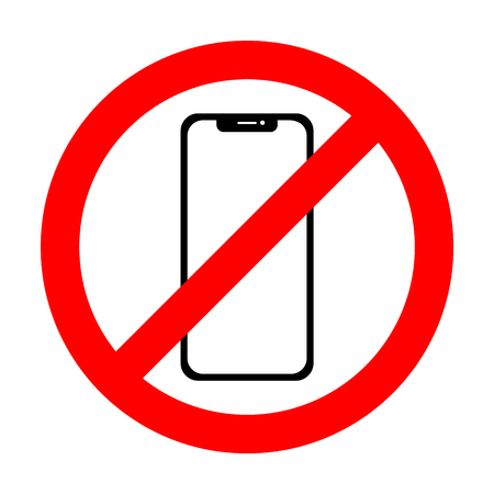 Vector no cell phone sign. Smartphone icon. Vectores