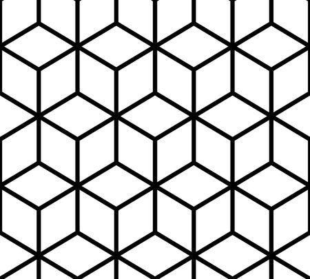 Geometric pattern. Cube seamless pattern. Seamless geometric line background