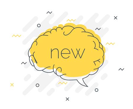 Quick Tips badge with speech bubble new brain. Trendy flat vector on white background. Smart concept vector illustration. Reklamní fotografie