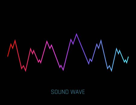 Vector Sound Wave. Colorful sound waves for party, DJ, pub, clubs, discos. Audio equalizer technology. Vector illustration for mobile app Banque d'images - 124988670
