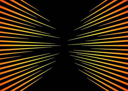 Sun Rays or Explosion Boom. Hyper Speed Warp Sun Rays or Explosion Boom for Comic Books Radial Background Vector