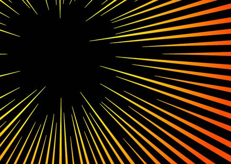 Sun Rays or Explosion Boom. Hyper Speed Warp Sun Rays or Explosion Boom for Comic Books Radial Background Vector