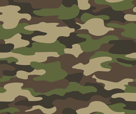 Modèle sans couture de camouflage. Fond de camouflage militaire ou de chasse abstrait. Style de vêtement classique masquant l'impression de répétition de camouflage. Camouflage de texture de forêt de couleurs vert brun noir olive.