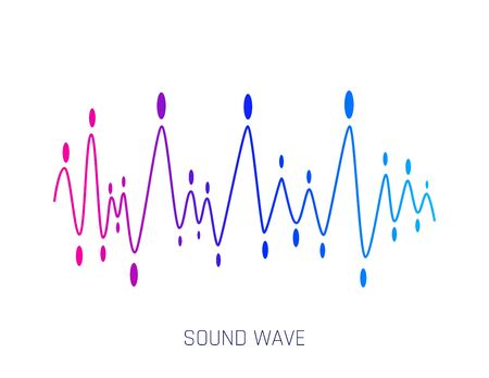 Music sound waves. Concept musical bar. Audio digital equalizer technology, console panel, musical pulse. Modern music wave pattern