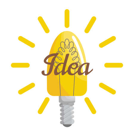 Light lamp creative idea with bulb for website and promotion banners. Effective thinking concept. Bulb icon with innovation idea. Vector business illustration concept.