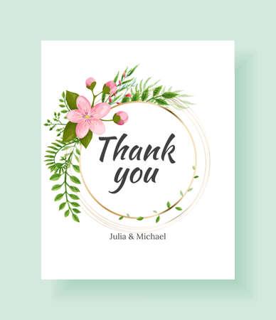 Sakura flowers background. Floral wedding invitation card template design. Holiday invitation, greeting card and fashion design