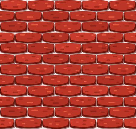 Vector brick wall seamless background. Realistic color brick texture. Decorative pattern for loft style