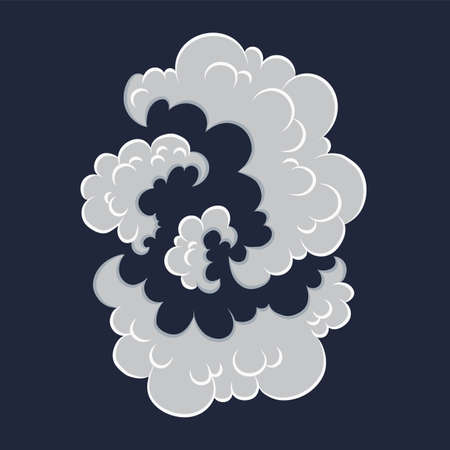 Explosion. Cartoon bomb explode effect with smoke effect. Comic boom vector illustration. Clipart element for game, print, advertising, menu or web design