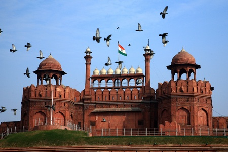 India, Delhi, the Red Fort, it was built by Shahjahan as the Delhi citadel of the 17th Century Stock Photo - 9399672